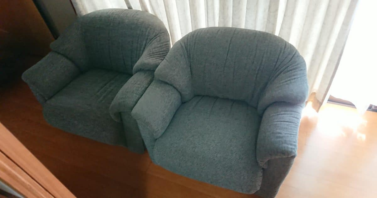 神奈川県横浜市港南区で一人掛けソファーを回収しました